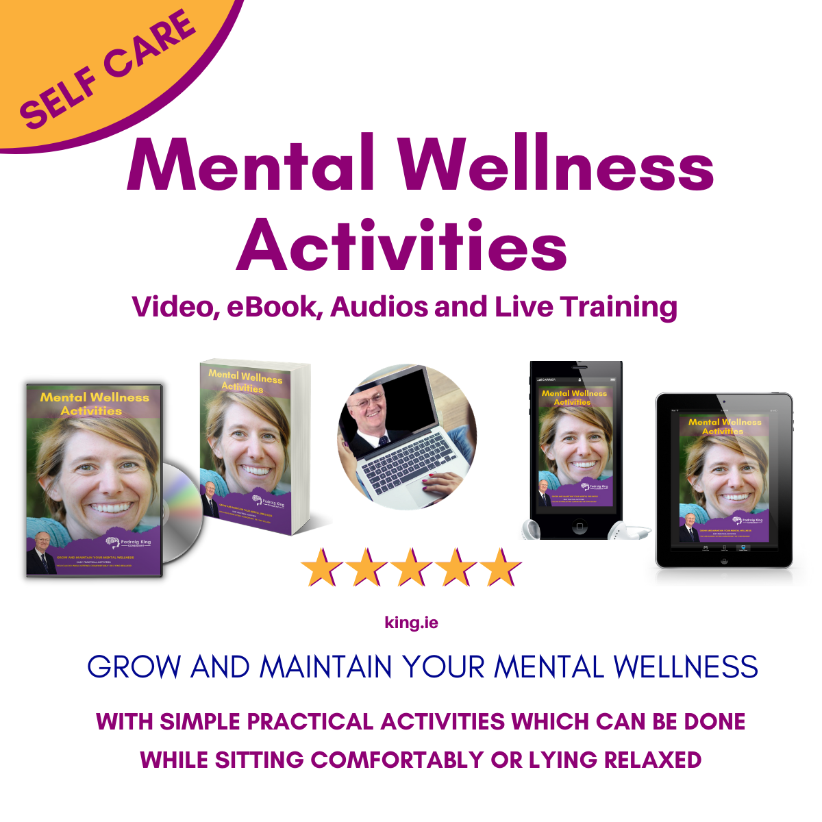 SElf Care Mental Wellness Activities from Padraig King